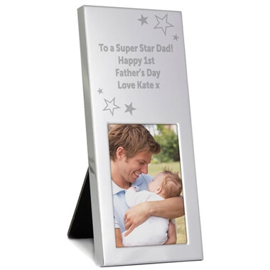 Personalised Silver Frame - Stars