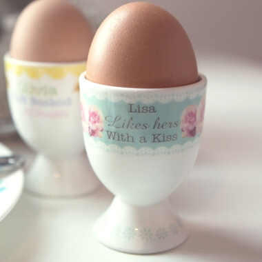 Personalised Vintage Rose Egg Cup