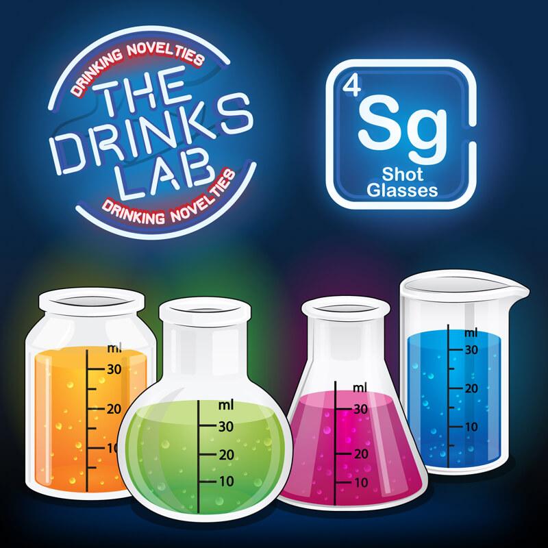 Drinks Lab Chemistry Shot Glasses (Set of 4)