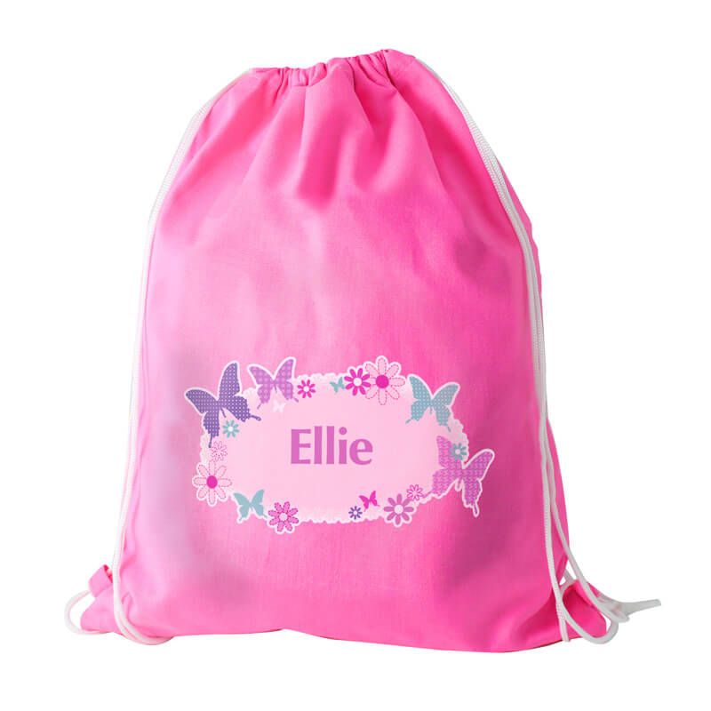 Personalised Butterfly Swim Bag - Children's Birthday Your Kids Bday - 5th Birthday