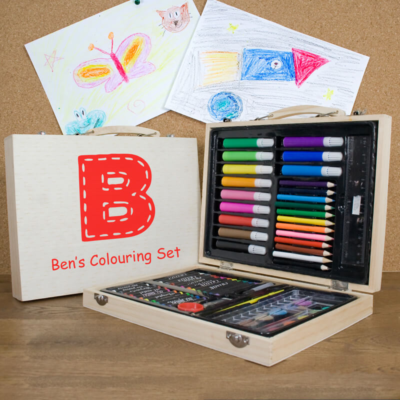 Personalised Children's Colouring in Set - Christmas  gift
