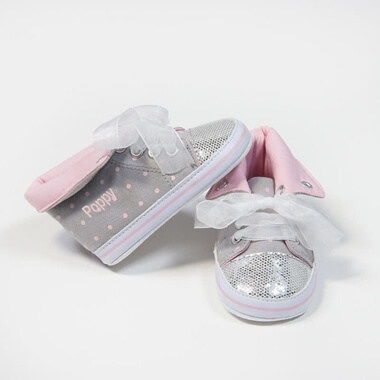Personalised Glitter High Top Trainers