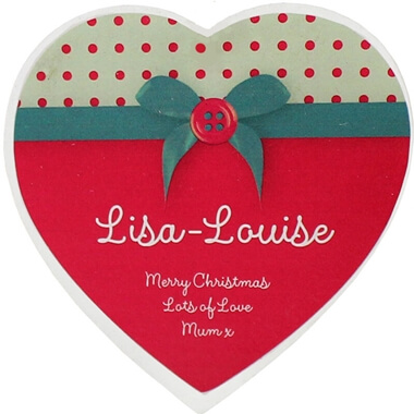 Personalised Heart Shaped Decoration