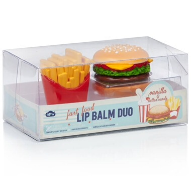 Burger and Fries Lip Balm Duo