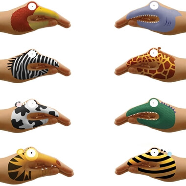 Temporary Animal Hand Tattoos
