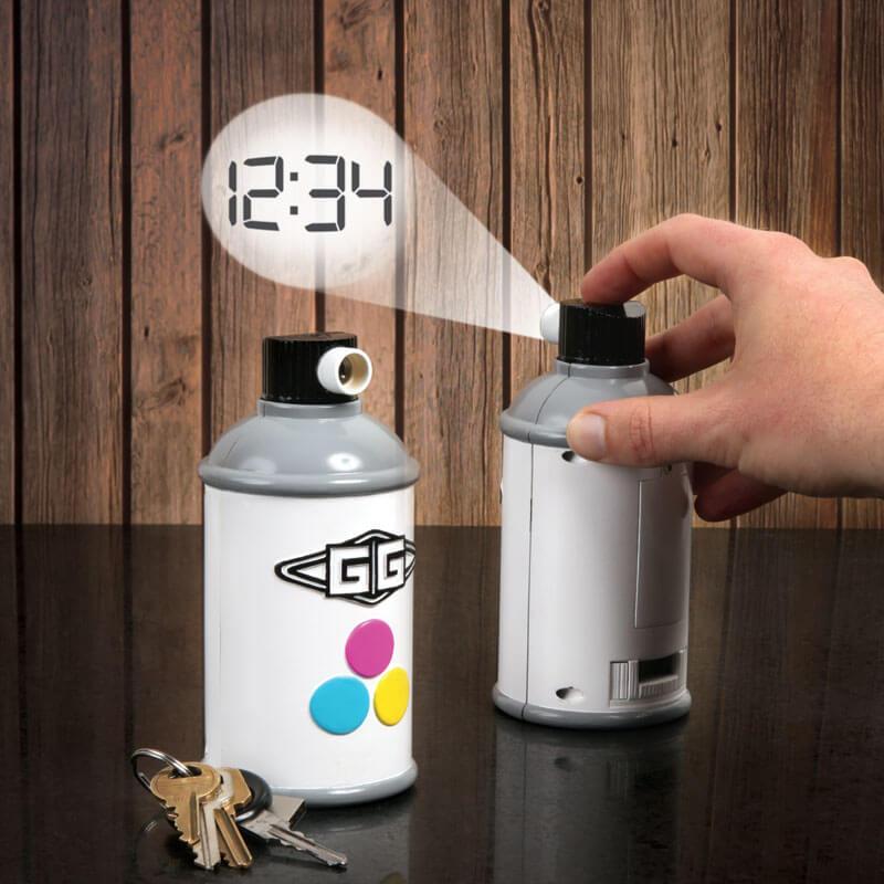 Spray Paint Projection Clock