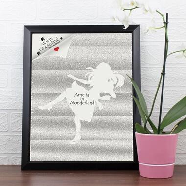 Personalised Alice In Wonderland Poster