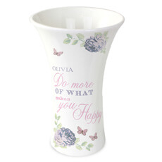 Personalised Secret Garden Ceramic Vase