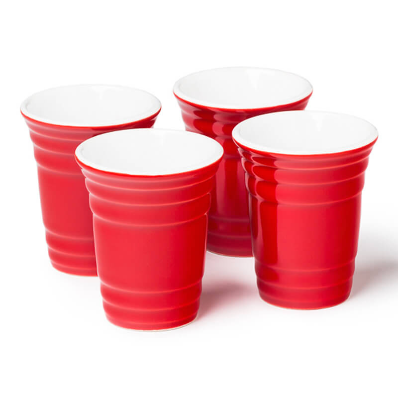 Red Cup Shot Glass Set