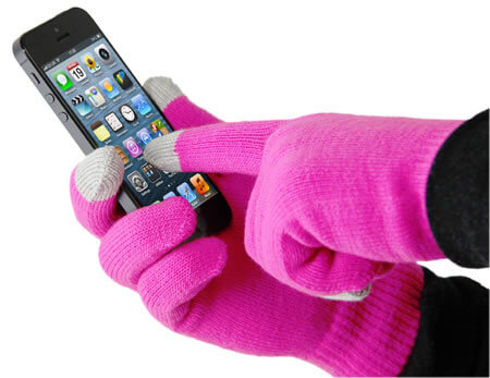 Smart Glove - Touch Glove for iPhone - Pink - 40th Birthday Gifts For Her