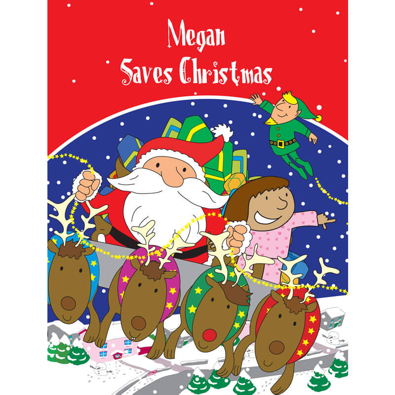 Personalised Christmas Book - Your Child Saves Christmas - Christmas  gift