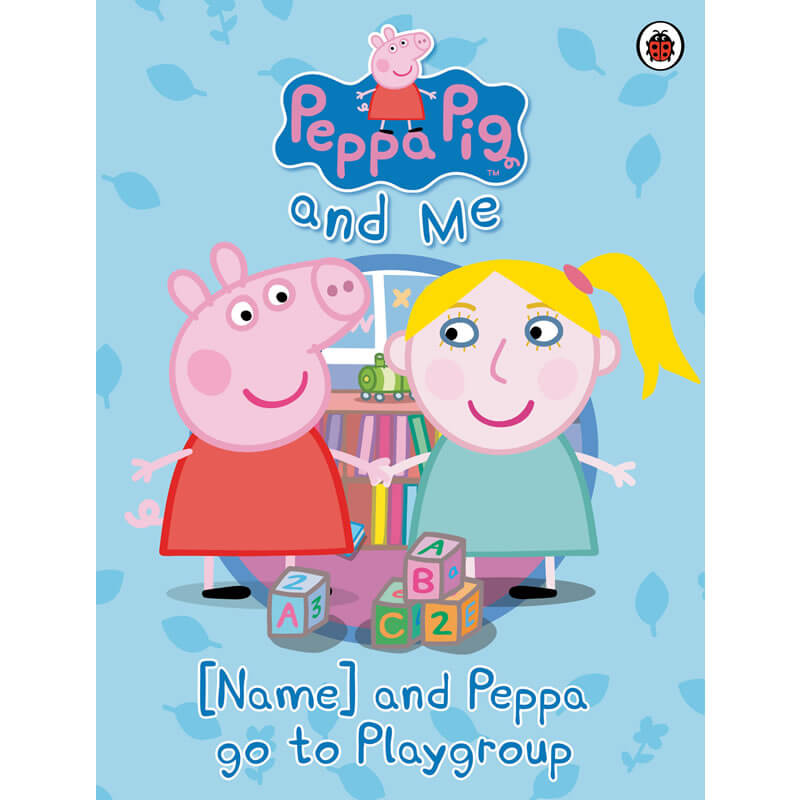 Personalised Peppa Pig  - Your child and Peppa go to Playgroup - Children's Birthday Your Kids Bday - 4th Birthday