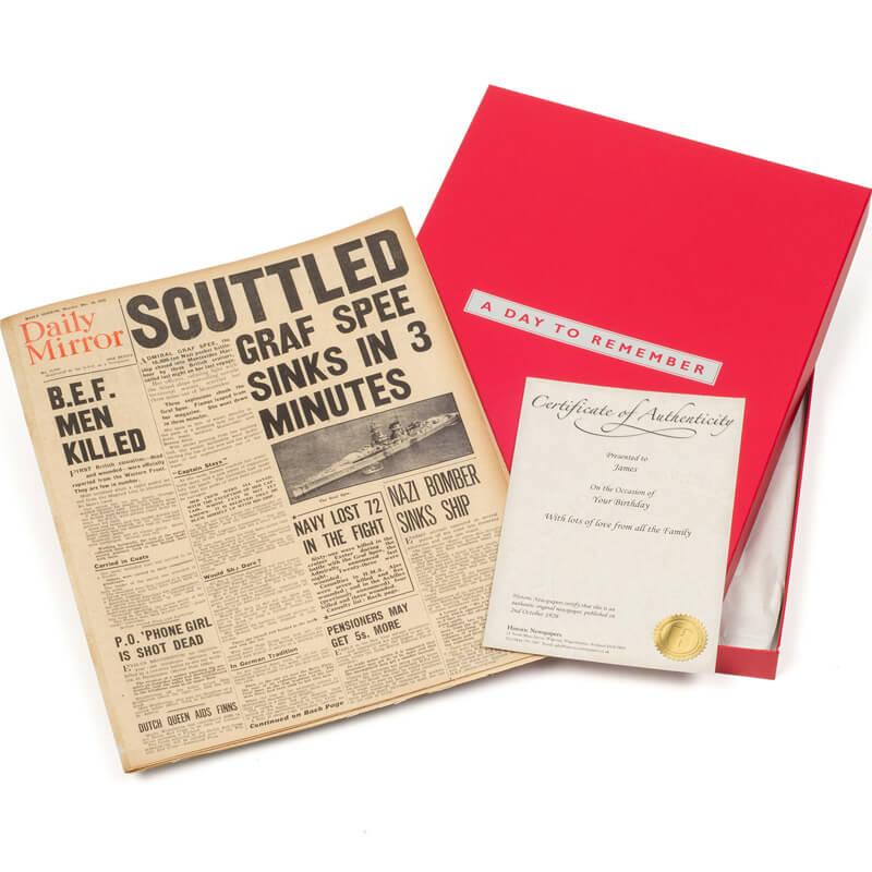Original Newspaper 40th Birthday in Presentation Box - 40th Birthday Special Presents