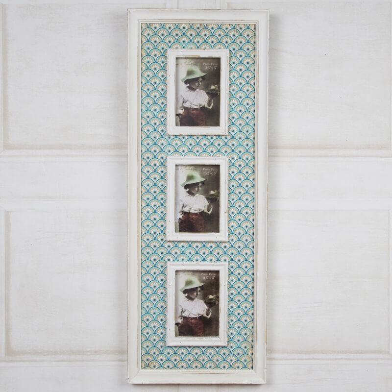 Casablanca Triple Photo Frame