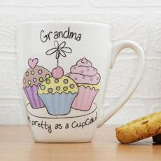 Personalised Cup Cake Latte Mug