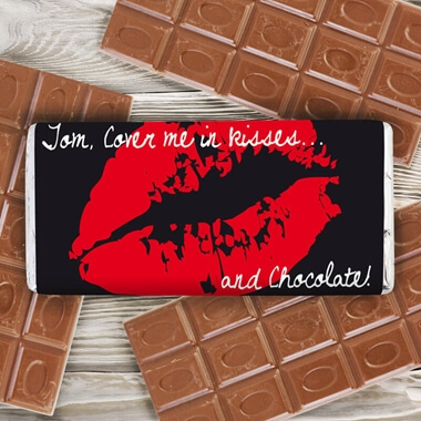 Personalised Kisses Chocolate Bar