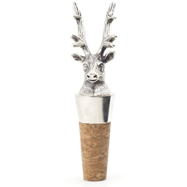 Silver Plated Stag Wine Bottle Stopper