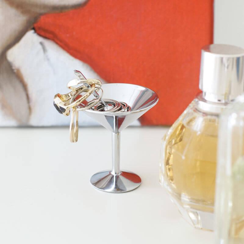 Martini Glass Jewellery Holder