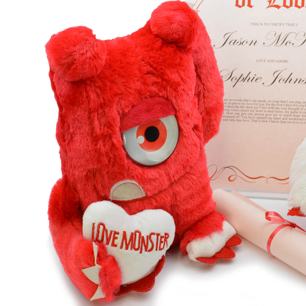 Personalised Love Monster Cuddly