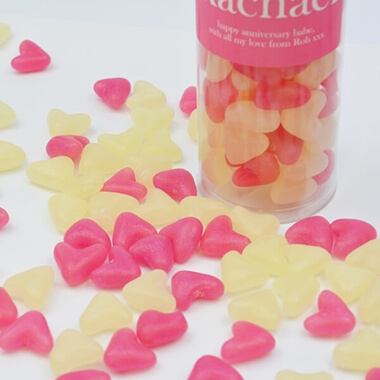 Personalised Lolly May Jelly Bean Hearts