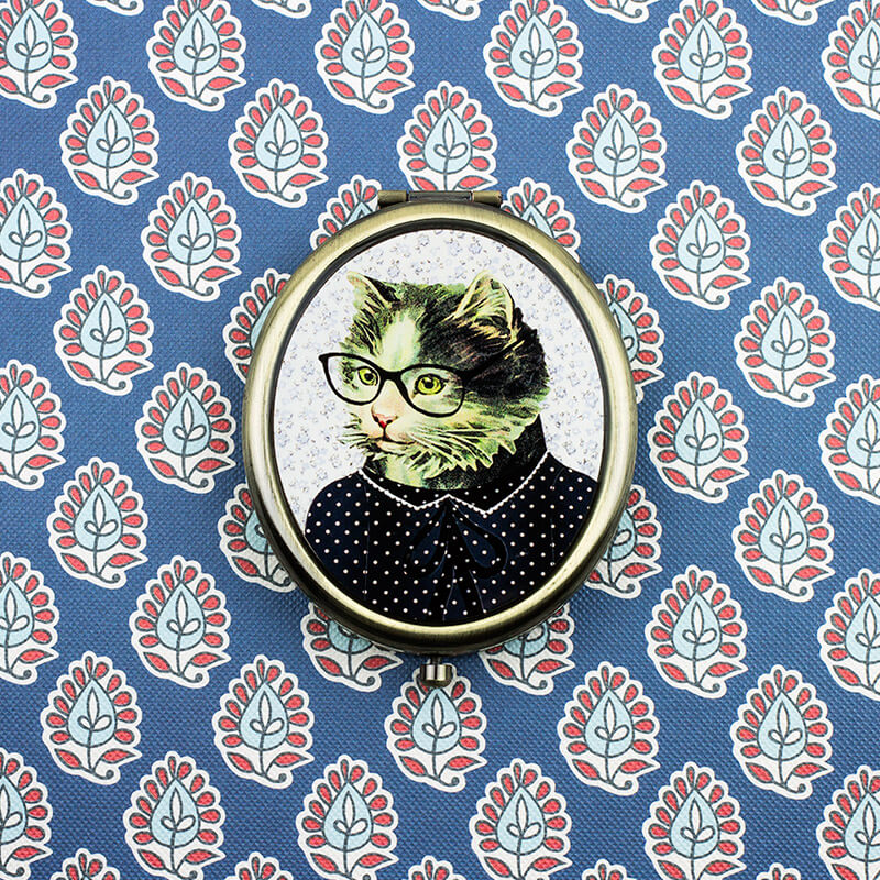 Cat Dress Up Compact Mirror