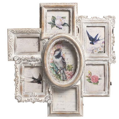 Whitewash Multi Photo Frame