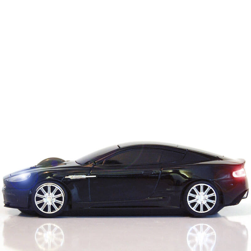 Wireless Car Mouse - Aston Martin - Storm Black
