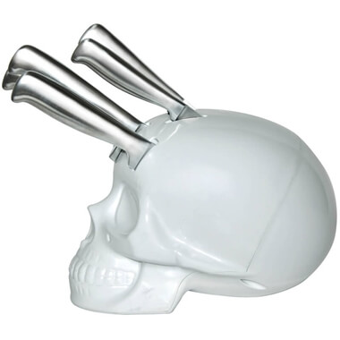 Skull Kitchen Knife Block