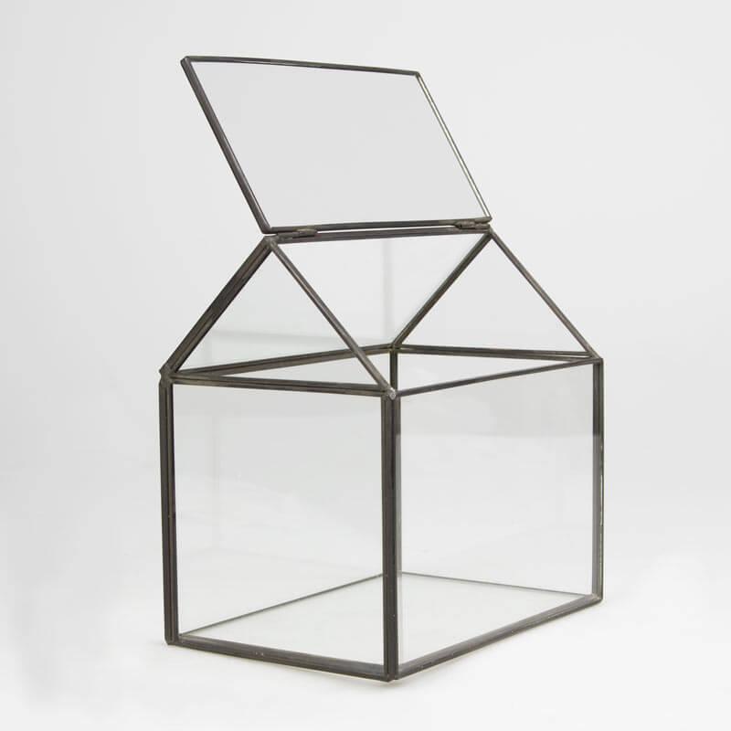 Black House Shape Terrarium