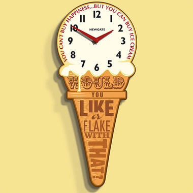 Newgate Ice Cream Clock
