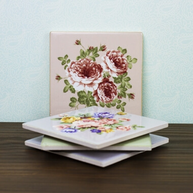 Classic Rose Coasters - Set Of 4
