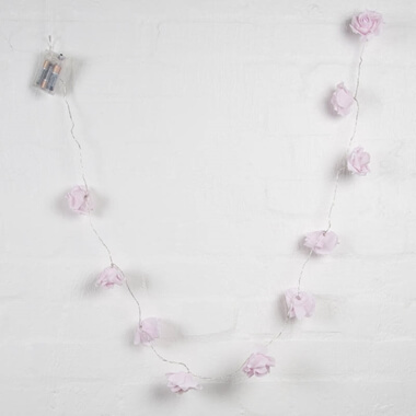 Pink Rose Light Garland