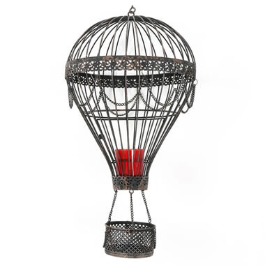 Hot Air Balloon Metal Candle Holder