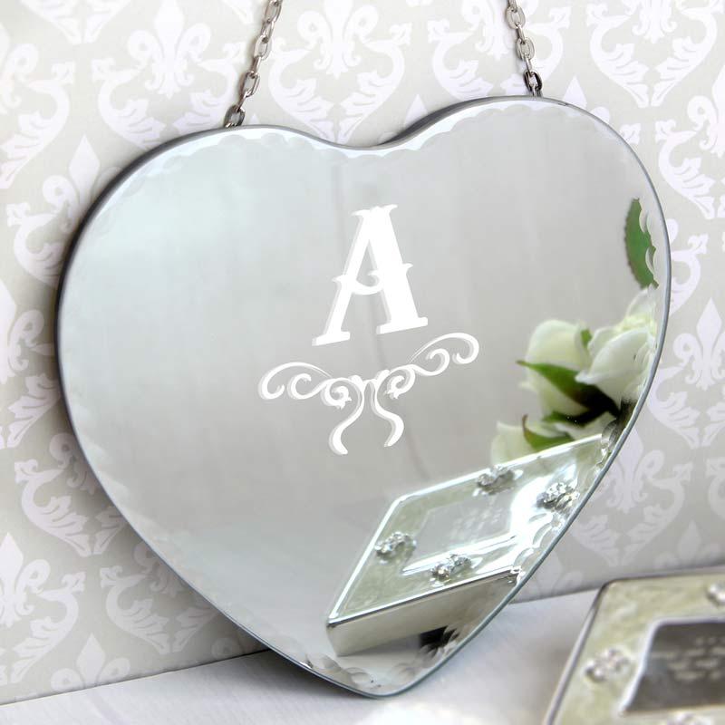 Personalised Initial Heart Mirror
