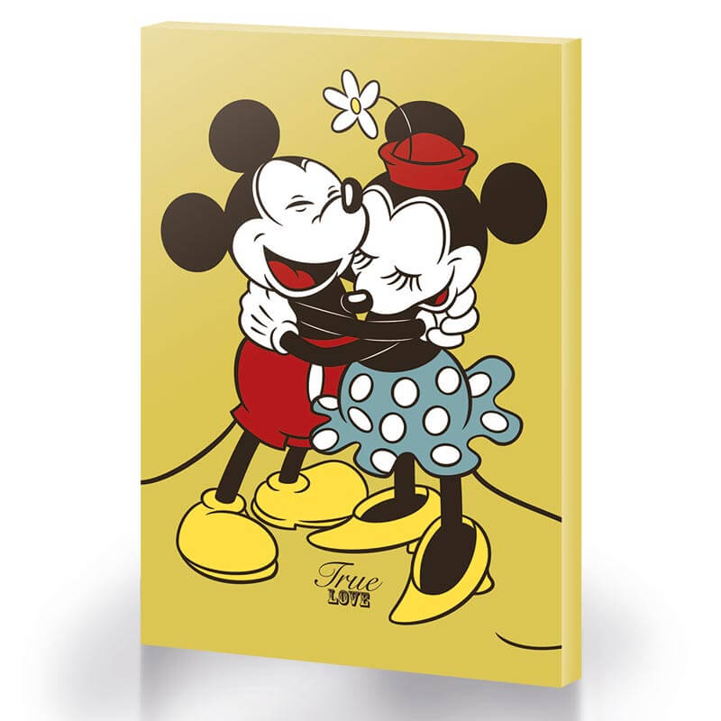 Mickey And Minnie Mouse True Love Large Canvas