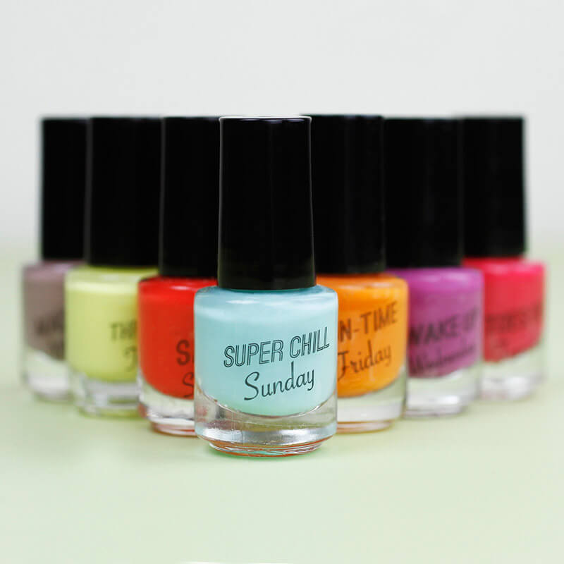 Days Of The Week Nail Polish Set