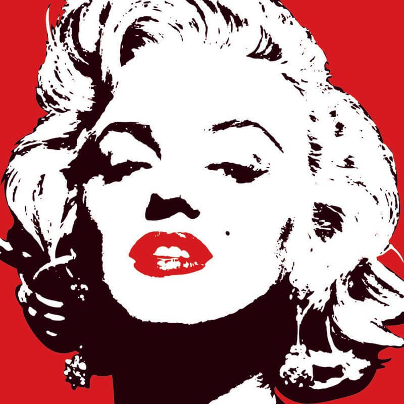 Marilyn Monroe A Vision In Red Canvas