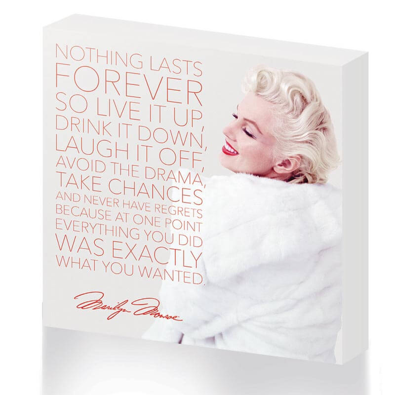 Marilyn Monroe 'Nothing Lasts Forever' Canvas
