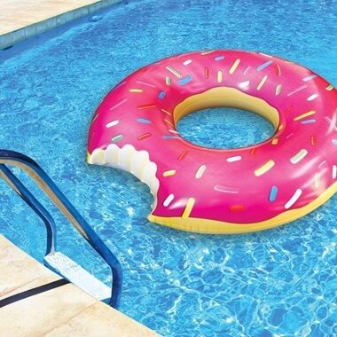 Strawberry Donut Pool Float