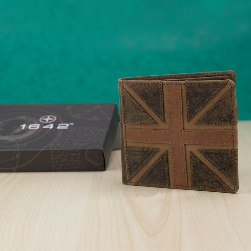 Mustard Union Jack Leather Wallet - 21st gift