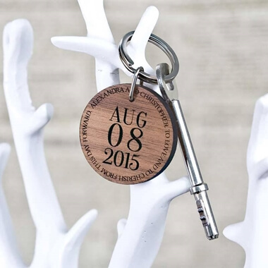 Personalised Special Date Round Key Ring