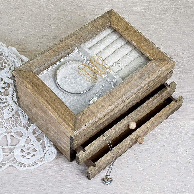 personalised wooden jewellery box 2