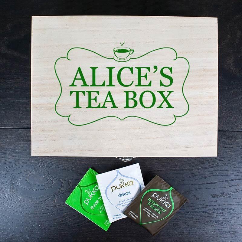 Personalised Tea Box With Tea