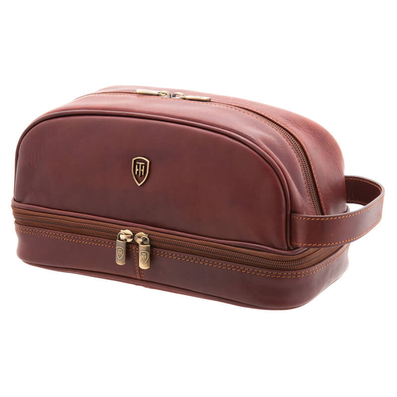 Italian Leather Wash Bag