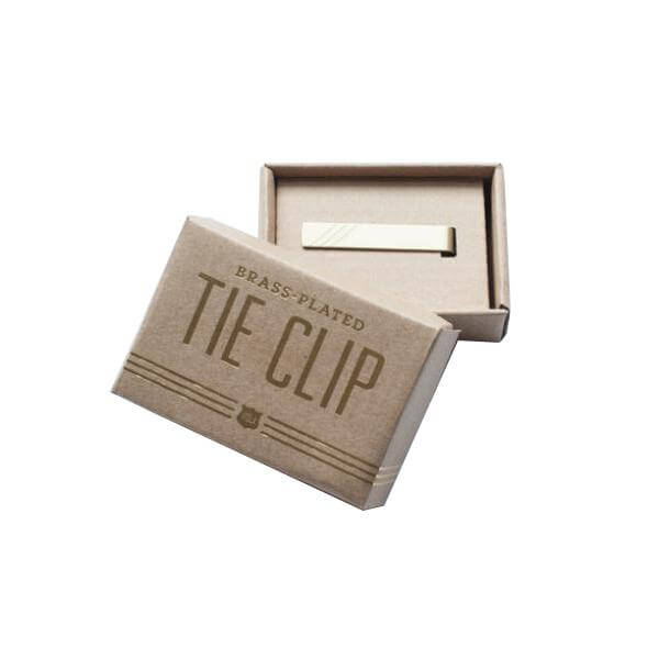 Brass Plated Tie Clip - Fine and Dandy