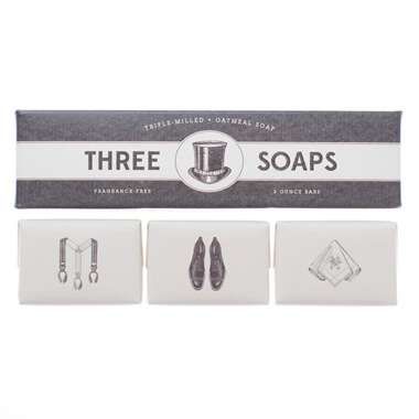 Gentleman's Trio Of Soaps