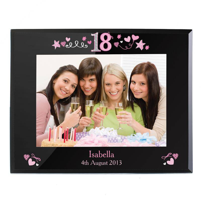 Personalised 18th Birthday Glass Photo Frame - 18th gift