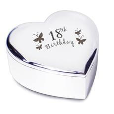 18th Birthday Heart Trinket Box