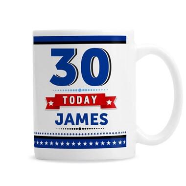 Personalised 30th Birthday Star Mug