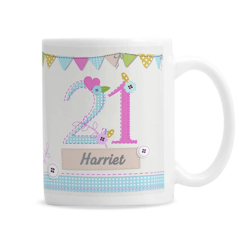 Personalised 21st Birthday Craft Mug - 21st gift